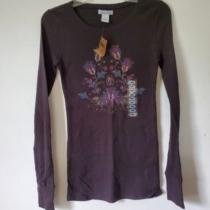 Lucky Brand/Waffle Knit Graphic Tee